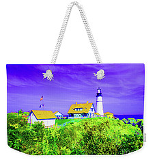 Portland Head Lighthouse Weekender Tote Bag by Ann Johndro-Collins