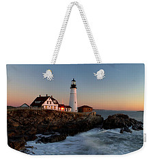 Portland Head Lighthouse Sunrise Weekender Tote Bag