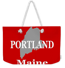 Weekender Tote Bag featuring the photograph Portland Maine State City And Town Pride  by Keith Webber Jr