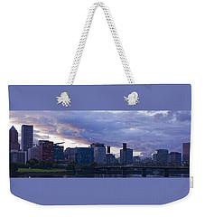 Weekender Tote Bag featuring the photograph Portland Oregon Panorama by Jonathan Davison