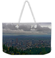 Weekender Tote Bag featuring the photograph Portland Overlook by Jonathan Davison