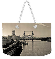 Portland Steel Bridge Weekender Tote Bag