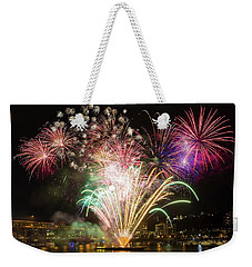 Portland Waterfront 4th Of July Fireworks Weekender Tote Bag
