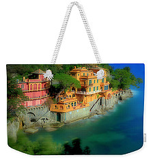 Weekender Tote Bag featuring the photograph Portofino Park Bay by Enrico Pelos