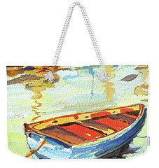 Weekender Tote Bag featuring the painting Portofino Passage by Rae Andrews