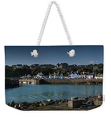 Portpatrick Harbour And Lighthouse Weekender Tote Bag