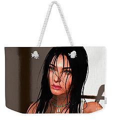 Portrait Female 1 Weekender Tote Bag