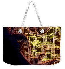 Weekender Tote Bag featuring the digital art Portrait In Mesh by Rafael Salazar