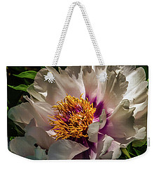 Portrait In White And Magenta Weekender Tote Bag