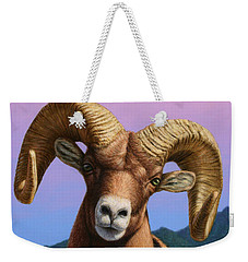 Portrait Of A Bighorn Weekender Tote Bag