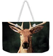 Weekender Tote Bag featuring the digital art Portrait Of A Buck by Daniel Eskridge