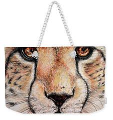 Portrait Of A Cheetah Weekender Tote Bag by Heidi Kriel