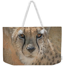 Portrait Of A Cheetah Weekender Tote Bag