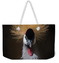 Portrait Of A Crowned Crane 2 Weekender Tote Bag by Ernie Echols