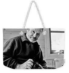 Weekender Tote Bag featuring the photograph Portrait Of A Dead Photographer by Dubi Roman