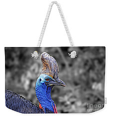 Portrait Of A Double-wattled Cassowary II Altered Version Weekender Tote Bag by Jim Fitzpatrick