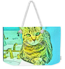 Portrait Of A Feline Weekender Tote Bag
