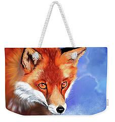Portrait Of A Fox Weekender Tote Bag