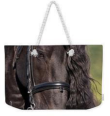 Weekender Tote Bag featuring the photograph Portrait Of A Friesian D6438 by Wes and Dotty Weber