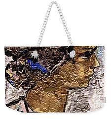 Weekender Tote Bag featuring the digital art Portrait Of A Girl Pog2 by Pemaro