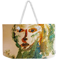 Weekender Tote Bag featuring the painting Portrait Of A Girl  by Shea Holliman