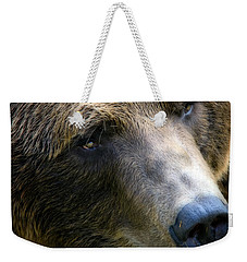 Portrait Of A Grizzly Weekender Tote Bag by Lana Trussell