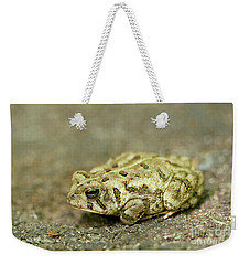 Portrait Of A Grumpy Toad - Fowler's Toad Weekender Tote Bag