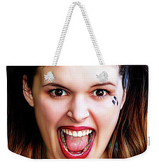 Portrait Of A Harlequin Weekender Tote Bag