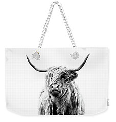 Portrait Of A Highland Cow Weekender Tote Bag