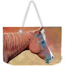 Weekender Tote Bag featuring the photograph Portrait Of A Horse by Marion Johnson