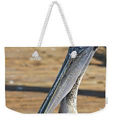 Portrait Of A Pelican On The Pier Weekender Tote Bag