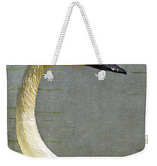 Portrait Of A Pond Swan Weekender Tote Bag by Nina Silver