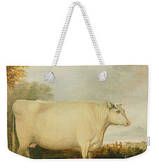 Portrait Of A Prize Cow Weekender Tote Bag by John Vine