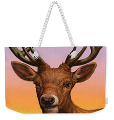 Portrait Of A Red Deer Weekender Tote Bag