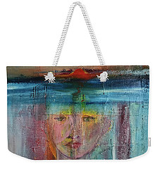 Portrait Of A Refugee Weekender Tote Bag by Kim Nelson