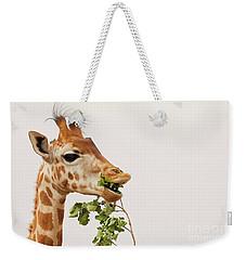 Portrait Of A Rothschild Giraffe IIi Weekender Tote Bag