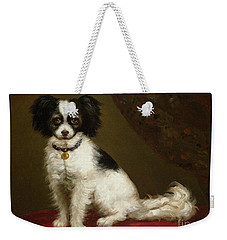 Portrait Of A Spaniel Weekender Tote Bag by Anonymous