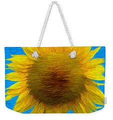 Portrait Of A Sunflower Weekender Tote Bag