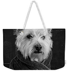 Weekender Tote Bag featuring the photograph Portrait Of A Westie Dog 8x10 Ratio by Edward Fielding