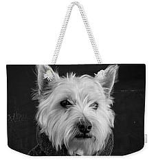 Portrait Of A Westie Dog Weekender Tote Bag