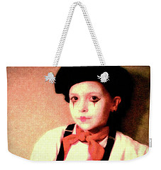 Portrait Of A Young Mime Weekender Tote Bag