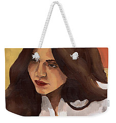 Portrait Of Amelia Weekender Tote Bag