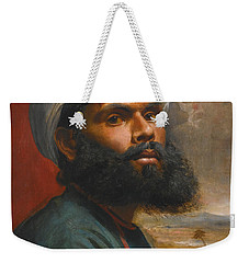 Portrait Of An Indian Sardar Weekender Tote Bag by Edwin Frederick Holt