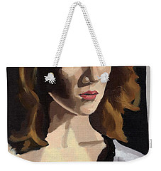 Portrait Of Becca Weekender Tote Bag