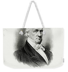 Weekender Tote Bag featuring the painting portrait of Buchanan as President by Artistic Panda