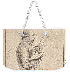 Weekender Tote Bag featuring the painting Portrait Of George Stubbs By James Bretherton by Artistic Panda