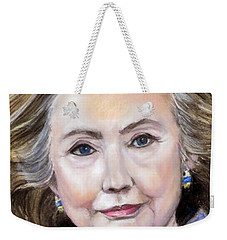 Pastel Portrait Of Hillary Clinton Weekender Tote Bag