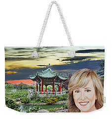 Portrait Of Jamie Colby By The Pagoda In Golden Gate Park Weekender Tote Bag