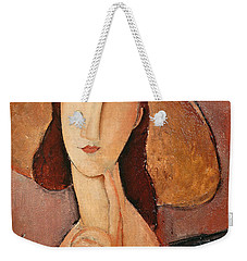 Portrait Of Jeanne Hebuterne In A Large Hat Weekender Tote Bag