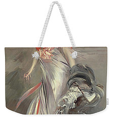 Portrait Of Marthe Regnier Weekender Tote Bag by Giovanni Boldini